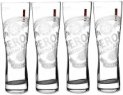 4 x Peroni Pint Glass Original Etched Versions