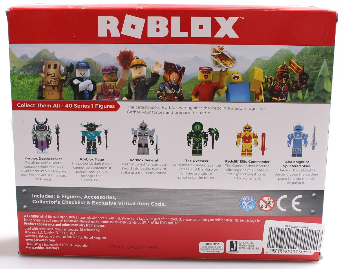 ROBLOX - Champions of ROBLOX Six Figure Pack with exclusive virtual item