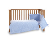 Clair de Lune Marshmallow Cot/Cot Bed Set, Blue, 3 Piece