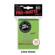 Ultra Pro Sleeves-SMALL-MATTE-LIME GREEN-Yu-Gi-Oh!+Cardfight!! Vanguard size