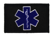 EMT Star Of Life Tactical Funny Hook and loop Fully Embroidered Morale Tags Patch