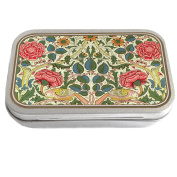 William Morris Design Slim Hinged 30ml Tin Tobacco Storage