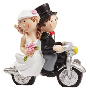 Motorbike cake Topper Bride and Groom Wedding Cake Topper ***Table Decoration