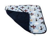 Universal Baby Stroller Blanket by Muzitao - Fits in Shoulder Straps & Buckles, Baby Stays Wrapped In-and-Out of the Stroller