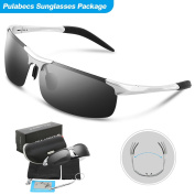 Pulabecs Men's Polarised Sports Sunglasses For Men And Women Fishing Golf Al-Mg Unbreakable Frame