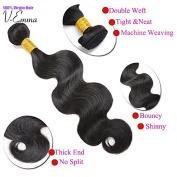 V-Emma 8~80cm 1 Bundle 100g Brazilian Virgin Human Hair Extension Body Wave, Natural Colour 36cm