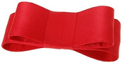 L. Erickson USA Wide Couture Bow Barrette - Silk Charmeuse Red
