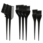 7pcs Feather Bristles Hair Colour Brushes on Hair Dye, DIY/Professional Tint Brush Set for Bleached Hair, Hair Colouring Highlighting Tools Kit, Hair Colour Mixing Brush Comb for Dyed Hair Omber Hair Dye