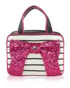 Betsey Johnson Weekender Bow Cosmetic Case - Fushia