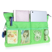 GREENERY*/ Handbag Pouch Bag in Bag Organiser Tidy Travel Cosmetic Pocket,Travel Storage Mesh Bag Organiser iPad Case