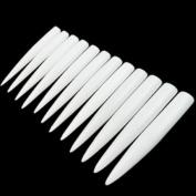 120pcs White/clear/natural Long Sharp Stiletto Fake Nail Tips False Nail Art Tip Manicure