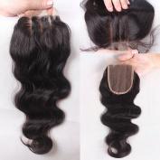 Rishang Hair Brazilian Body Wave Lace Closure 3.5x 4 Human Hair Lace Closure with Bleached Knots 3 Part Virgin Hair Lace Top Closures