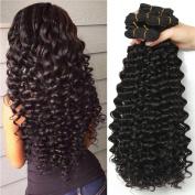 Malaysian Deep Wave 4 Bundles 16 18 20 60cm Malaysian Curly Weave Human Hair 100% Unprocessed Virgin Human Hair Weft Extensions Natural Colour(100+/-5g)/pc