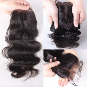 Rishang Hair Free Part Lace Closure Body Wave Brazilian Virgin Hair Lace Closure Bleached Knot Human Hair Closure with Baby Hair 3.5x4 Lace Front Closures