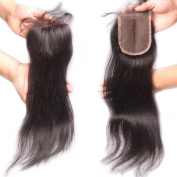 Rishang Hair Free Part Lace Closure Body Wave Brazilian Virgin Hair Lace Closure Bleached Knot Human Hair Closure with Baby Hair 3.5x 4 Lace Front Closures(20cm )
