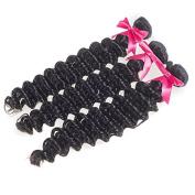 Usexy Brazilian Deep Wave Virgin Hair 3 Bundles 100% Unprocessed Human Hair Weaving 100g/bundle Natural Black Colour