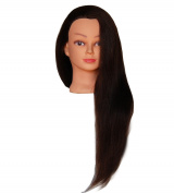 ZDella 100% Human Hair 70cm - 70cm Mannequin Head Hairdresser Training Head Manikin Cosmetology Doll Head