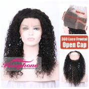 Persephone Soft Curly Brazilian Remy Human Hair 360 Full Lace Frontals Band Closures For Women 360 Virgin Hair Lace Closure With Natural Hairline Open Cap 20cm Natrual Colour