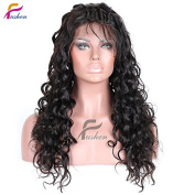 Fushen Hair Curly Wigs for Black Women Natural Curly Full Lace Human Hair Wigs 60cm with 150% Density