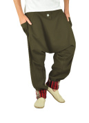 Comfortable harem pants for men and aladdin pants in ethno fashion alternative clothing from virblatt M - XL - Freudentanz brown