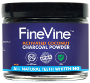 All Natural Teeth Whitening Powder - Made in USA with Coconut Activated Charcoal - Safe Effective Tooth Whitener Solution.  .   Strips, Kit, Gel & Whitening Toothpaste.