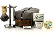 Gentleman Jon Deluxe Wet Shave Kit   Includes 8 Items