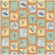 Karen Foster Design Scrapbooking Paper, 25 Sheets, Winter Sports, 30cm x 30cm