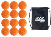 Signature Lacrosse Bundle (12-Ball) Lacrosse Balls NOCSAE & SEI Approved with 1 Performall Sports Drawstring Bag