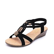 After women's sandal strappy shoes with wedges women shoe sets foot open toe