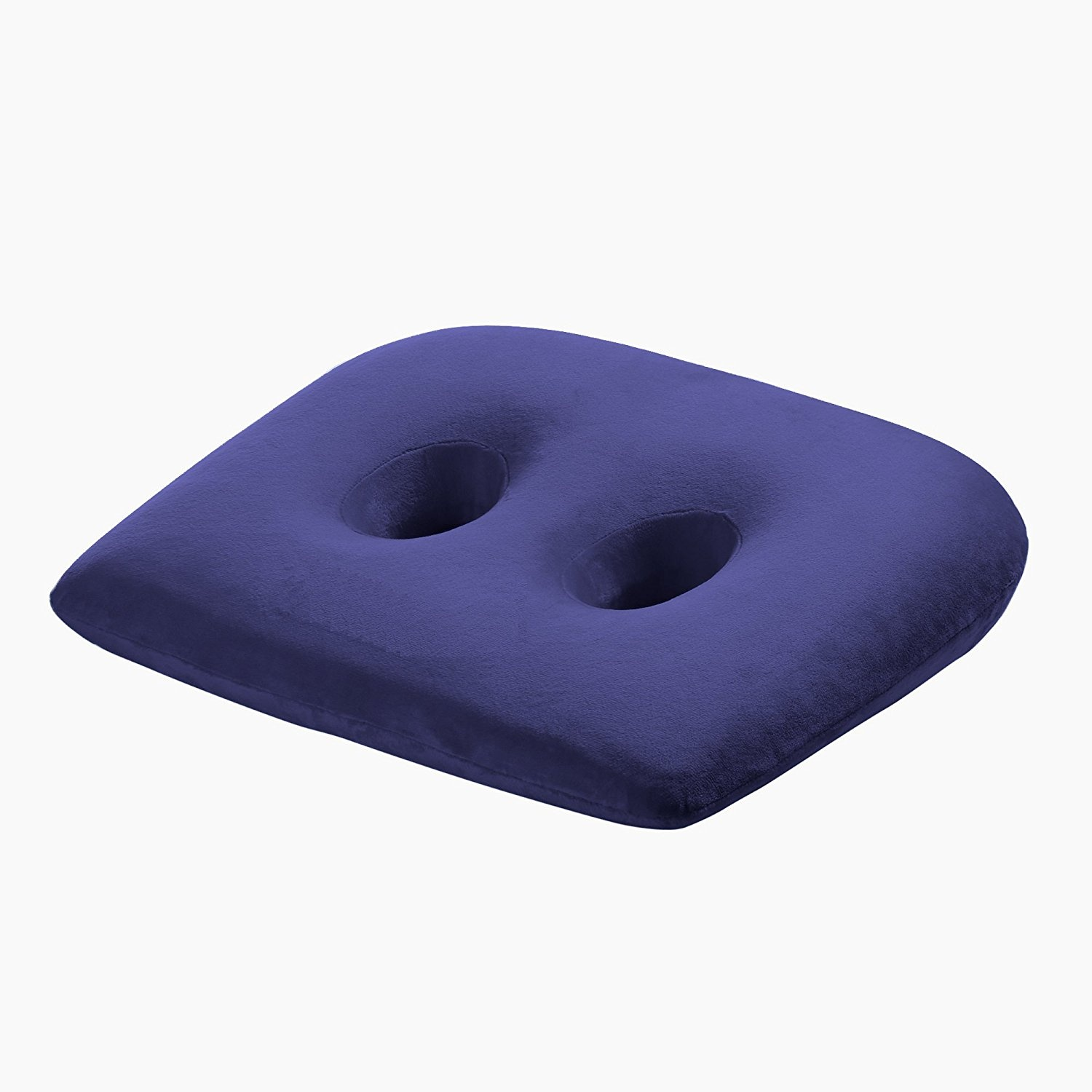 Wer Ischial Tuberosity Seat Cushion With Two Holes For Sitting Bones Washable Breathable Cover Travelling Tv Reading Home Office Car 43 36 8 6cm