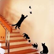 Saingace® Cats Butterfly Wall Stickers Art Decals Mural Wallpaper Decor Home DIY