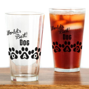 CafePress - Worlds Best Dog Dad - Pint Glass, 470ml Drinking Glass