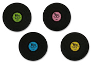 """Placemats vinyl record set of 4 Retro Style """"Records"""""""