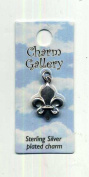 Fleur De Lis Charm 2mm Long Silver-plated Charm Gallery