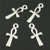 NEWME 200pcs ankh cross Charms Pendant For DIY Jewellery Wholesale Crafting Bracelet and Necklace Making
