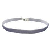 COIRIS 1.6cm 20pcs Grey Velvet Chokers Vintage Necklace for Women With Extension