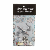 Silver Bag Feet 1.3cm - 8/pkg by Pam Damour the Decorating Diva