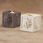 Bisque - Sun and Moon Candle Holder