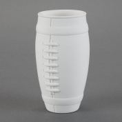 Duncan 30622 Small Inch Football Cup, Case of 6 Pieces, Unfinished Ceramic Bisque, With How To Paint Your Own Pottery Booklet