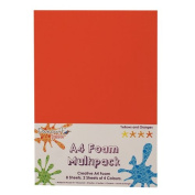 Dovecraft A4 Art + Craft Coloured Foam 8 Sheet Shade Multipack - Yellows + Oranges
