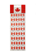 24 VINYL Canada Country Flag Small STICKERS .. NEW IN PACKAGE