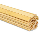 "15.5"" Extra Long Wooden Craft Sticks. Flexible, Can be Made to Curve, Strong. Natural Bamboo. 48 Pieces."