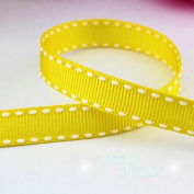 "FunnyPicker (10 Yards/Roll) 3/8"" (10Mm) Grosgrain Coloured Ribbon Wholesale Gift Wedding Baking Ribbons Orange Yellow"