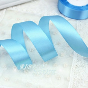 "FunnyPicker (25 Yards/Roll) 1"" (25Mm) Single Face Satin Ribbon Webbing Decoration Gift Christmas Ribbons Sky Blue"