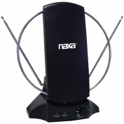 Naxa NAA-308 High-Powered Amplified ATSC HDTV & FM Antenna - Black