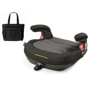 Peg Perego Viaggio Shuttle Backless Booster - Crystal Black with . Nappy Bag