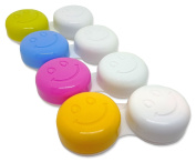 4 x Contact Lens Cases ~ Colour Coded L & R Soaking Storage Cases