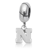 NCAA University of Nebraska Huskers & Cornhuskers Jewellery - Sterling Silver Women's Charms and Charm Beads