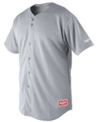 Rawlings Men's Full Button Jersey with Raglan Sleeves