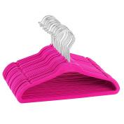 Premium Quality Space Saving Kids Velvet Hangers with Chrome Hooks by Zober - Non Slip Kids Hangers - 30 pack